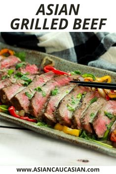 Who doesn't love an easy grilled beef recipe? This Grilled Beef with Green Curry Sauce will be on rotation in your kitchen for years to come. Tender beef, char-grilled bell peppers, and a fiery sauce are a flavor bomb in your mouth! This is the perfect summer cookout recipe and it's so quick to the table, you can easily add it to your busy weeknight recipe options too! #easydinnerrecipe #healthydinnerrecipe #healthygrilledrecipes Asian Dinner Recipes, Easy Asian Recipes, Curry Recipes, Beef Recipes, Vegetarian Recipes, Easy Summer Meals, Summer Recipes, Green Curry Sauce, Healthy Grilling Recipes