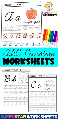 Cursive Tracing Worksheets