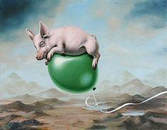 Pig Lift-pig, balloonbyLindaHerzog