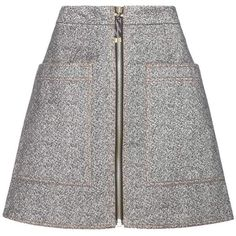 Acne Studios Prisca Cotton Miniskirt ($405) ❤ liked on Polyvore featuring skirts, mini skirts, grey, grey mini skirt, gray skirt, short skirts, grey skirt and short mini skirts