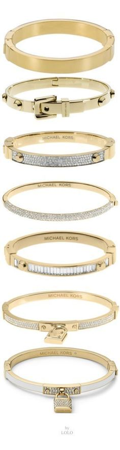 What a great gift, even if for yourself! Love these Gold Michael Kors Bangles. Michael Kors Outlet, Handbags Michael Kors, Michael Kors Bag, Mk Handbags, Cheap Handbags, Jewelry Box, Jewelry Accessories, Fashion Accessories, Fashion Jewelry