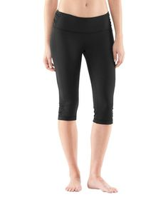 Take a look at this Black UA Hot Class Capri Pants by Under Armour® on #zulily today!