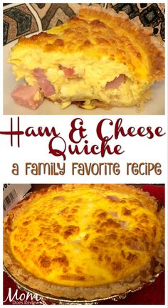 Ham and Cheese Quiche- Family Favorite using Mealthy Handblend! : Ham and Cheese Quiche- Family Favorite Breakfast Quiche, Breakfast Dishes, Breakfast Recipes, Quiches, Cooking Recipes, Recipes Using Ham, Leftover Ham Recipes, Tuna Recipes, Party Recipes