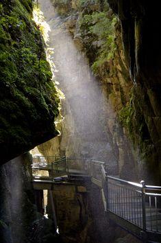 L'Orrido di Bellano è una gola naturale creata dal fiume Pioverna con suggestive spelonche. Una passerella consente al visitatore di ammirarne la bellezza.