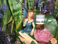 Faeries Magick Oil - Attract Faeries Sprites Nature Spirits-Garden Blessing-Wishes-Enchantment-Joy-Happiness-Midsummer Solstice-Handfasting By MaidenMotherCrone.etsy.com