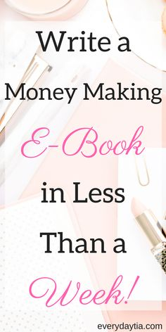 Are you tired of waiting months for affiliate payouts? Do you want a reliable source of income so you can pay your bills ON TIME? Babe, you need to create your own products and why not start with something easy, ebooks! This guide is full of tutorials that walk you step by step of the ENTIRE creative process to create a money making ebook in less than a week! - Everydaytia.com