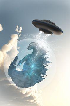 Umm Godzilla is going to get probed! NOOOO!