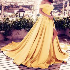 Off Shoulder Long Satin Prom Dresses 2018 Formal Evening Gowns