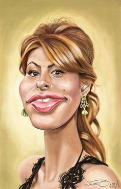 Eva Mendes  Artist: Jaume Cullell website: http://www.jaumecullell.com