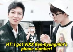 """OMO THAT WOULD SO BE ME IF I GOT KEN KEN'S NUMBER!!!!! (Maybe a little more fangirling of course, """"you're really giving me your number??? Omg gfjdhsgshdjfhdshjd"""" *faints*) Bigflo's High Top & VIXX's Ken"""