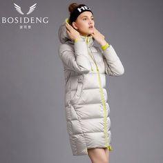 c04d54ae5085fe BOSIDENG women's coat duck down coat winter long jacket hooded outwear  draw-string hat workout