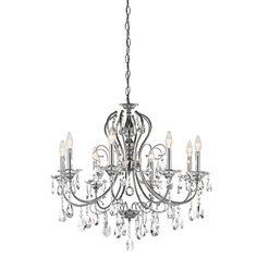 Jules Chrome Eight Light Crystal Chandelier Kichler $855