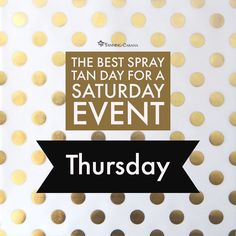 "We are asked a lot ""What is the best day to spray tan?"" Well darlings Thursday appointments give you time for the waiting period of 8 hours and then an extra shower. Some times after the first shower residual bronzer is still on your skin and can transfer a second shower insure this not happening. . . Thursday appointments allow for two showers before an event. For the first shower use cool water to rinse the bronzer off the cool water will hold on skin where hot water actually helps in the…"