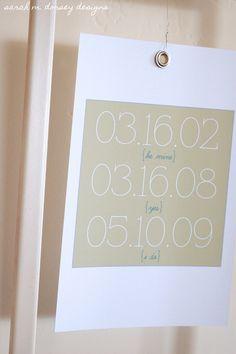 Cute idea for important dates (bfriend, engagement, marriage, etc...)