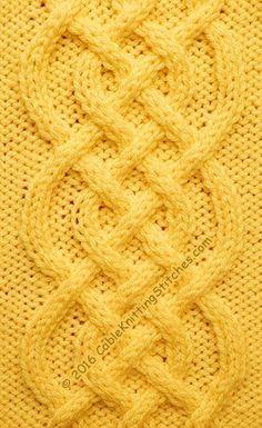 89fa35cbf468 Cable Knitting Stitches » Cable panel 18 » Saxon Braid (Free written  instructions)
