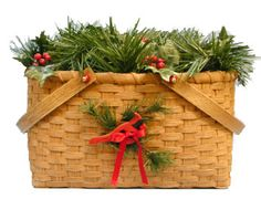 Classic Holiday Tradition Basket Pattern - NC Basket works - Suzanne Moore has great prices on reed, caning and supplies!