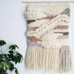 Woven Wall Hanging / Handmade Woven Tapestry / Wall Art by JessHotsonTextiles on Etsy Wool Wall Hanging, Weaving Wall Hanging, Weaving Art, Loom Weaving, Tapestry Weaving, Wall Tapestry, Hand Weaving, Wall Hangings, Hanging Tapestry