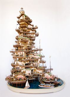 city - Takanori Aiba creates these complex miniature buildings.