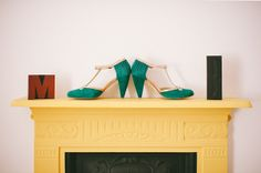 Green Wedding Shoes For A Knitting Enthusiast And Her DIY And Lifeboat Inspired Wedding Wedding Blog, Diy Wedding, Wedding Dress, Teal Wedding Shoes, Alternative Wedding Shoes, Bride Shoes, Vintage Bridal, Dresses Uk, Green And Gold