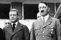 Abdicated King Edward VIII with Nazi leaders