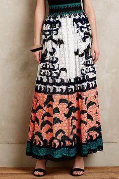 Amau Maxi Skirt #anthropologie #anthrofave