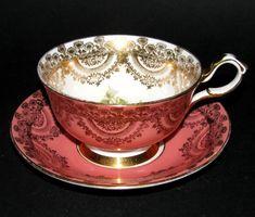 Collingwood Gilt Floral Teacup