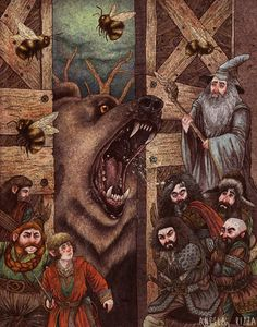 "Beorn's Hall by AngelaRizza.deviantart.com on @deviantART - Scene from ""The Hobbit"""