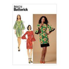 Butterick Pattern 6624 Misses'/ Misses' Petite, Women's/ Women's Petite Dress Butterick Sewing Patterns, Dress Sewing Patterns, Clothing Patterns, Dress For Petite Women, Petite Dresses, Patron Simplicity, Patron Butterick, Maternity Patterns, Mother Daughter Fashion