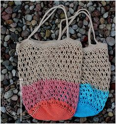 Ravelry: Honeycomb mesh market bag pattern by Agata M Dk weight yarn