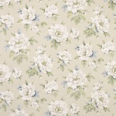 Wisley Natural Floral Linen/Cotton Curtain Fabric at Laura Ashley