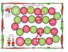 Here's a Race to the North Pole game for practicing counting on and counting back to add and subtract.