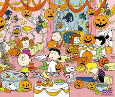 Peanuts Gang Halloween Party Art Source by Snoopy Halloween, Fröhliches Halloween, Charlie Brown Halloween, Great Pumpkin Charlie Brown, Vintage Halloween, Halloween Cartoons, Halloween Items, Peanuts Cartoon, Peanuts Gang