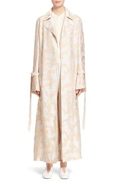 Stella McCartney 'Kenisa' Horse Pattern Belted Trench Coat available at #Nordstrom