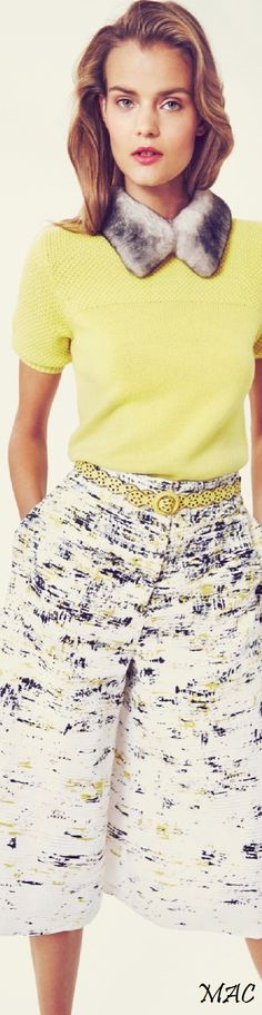 Resort 2016 Carolina Herrera women fashion outfit clothing style apparel @roressclothes closet ideas