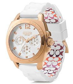 water resistant Coach watch.