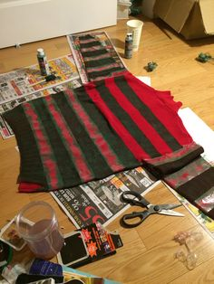 dyeing a sweater for Freddy Krueger's costume :)                                                                                                                                                                                 More