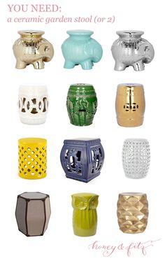 You Need a Ceramic Garden Stool