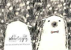 Cute Polar Bear greetings card design by Jane McGuinness of Whirlygig Collective