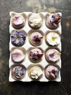 Spelt Flour Mini Floral Cupcakes. // In need of a detox? Get 10% off your @SkinnyMeTea 'teatox' using our discount code 'Pinterest10' at skinnymetea.com.au