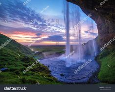 The Secret of the 7 amazing waterfalls in South Iceland + black beach and glacier Waterfall Photo, Mountain Waterfall, Exposure Photography, Landscape Photography, Thermal Pool, Moving Water, Beautiful Waterfalls, Landscape Paintings, Stock Photos