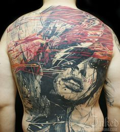Back piece by Sandor Pongor #InkedMagazine #backpiece #art #tattoos #tattoo #Inked