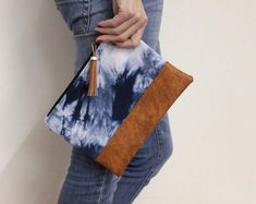 Marissa Fold Over Clutch PDF Sewing Pattern | Etsy Diy Clutch, Clutch Bag, Envelope Clutch, Leather Clutch, White Clutch, Blue Clutch, Shibori Tie Dye, Blue Handbags, Tye Dye