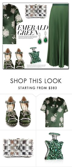 """""""Emerald City: Pops of Green"""" by queenvirgo ❤ liked on Polyvore featuring Vanessa Bruno, N°21, Rochas, Chanel, Bond No. 9 and emeraldgreen"""