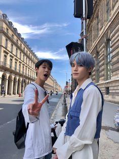 Nct 127 in Paris doyoung and taeyong J Pop, Nct Taeyong, Kpop Fanart, Winwin, Jaehyun, Cities In Paris, Kim Dong Young, Rapper, Park Ji-sung