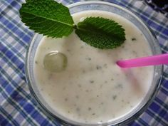 Spicy Mint Lassi - ice cold and refreshing!