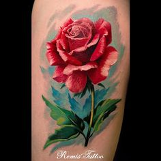 Rose tattoos are simply beautiful. These are the top rose tattoo designs, artists, body placements, etc to make you realllllly want a rose tattoo! 3d Rose Tattoo, Watercolor Rose Tattoos, Tattoo Henna, Tattoo Flowers, Tattoo Art, Bee Tattoo, Best 3d Tattoos, Body Art Tattoos, Girl Tattoos