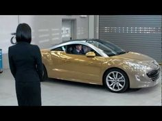 Peugeot RCZ | Mood Paint Demonstration - mood paint car is not real. Peugeot's April fools day event