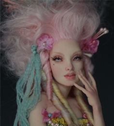 ROCOCO CUPCAKE - ROYAL ANTOINETTE - polymer clay ooak sculpture  by Nicole West