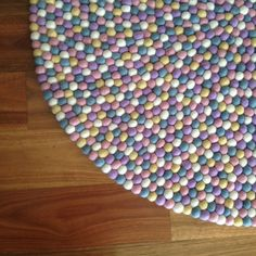 Handmade Wool Pastel Colour Felt Ball Rug Nursery Rug Home and Kids Room Decoration Area Rug Mat Carpet - Made in Nepal A Kids Bedroom, Bedroom Ideas, Felt Ball Rug, Nursery Rugs, Baby Rooms, Color Of The Year, Pantone Color, Pastel Colors, Ultra Violet