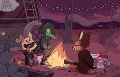 """cocadope: """" 'We were lost, but none of it really mattered anyways' """" Animal Drawings, Cool Drawings, Illustrations, Illustration Art, Night In The Wood, Furry Drawing, Anthro Furry, Animation, Character Design Inspiration"""